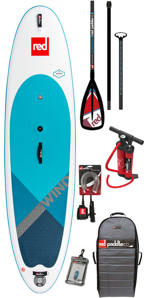 2018 Red Paddle Co WindSUP 10'7 Inflatable Stand Up Paddle Board + Bag, Pump, Paddle & Leash