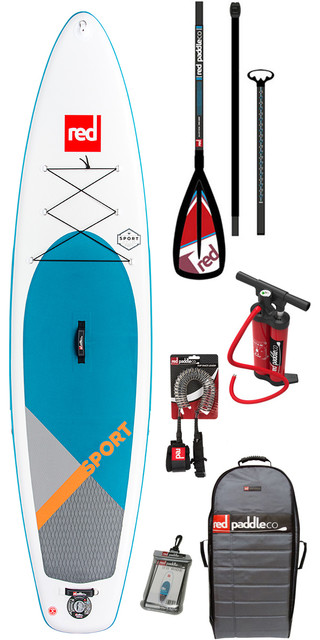 2018 Red Paddle Co Sport 11'3 Inflatable Stand Up Paddle Board + Bag, Pump, Paddle & Leash Picture