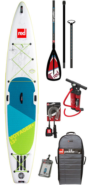 2018 Red Paddle Co Voyager 13'2 Inflatable Stand Up Paddle Board + Bag, Pump, Paddle & Leash
