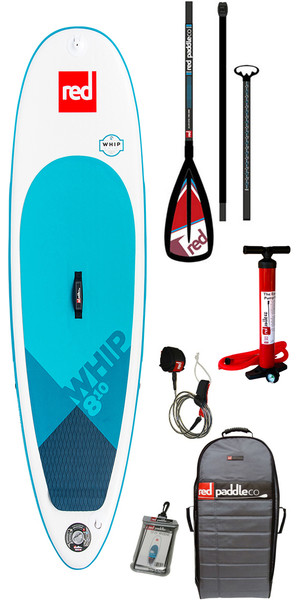 2018 Red Paddle Co Whip 8'10 Inflatable Stand Up Paddle Board + Bag, Pump, Paddle & Leash