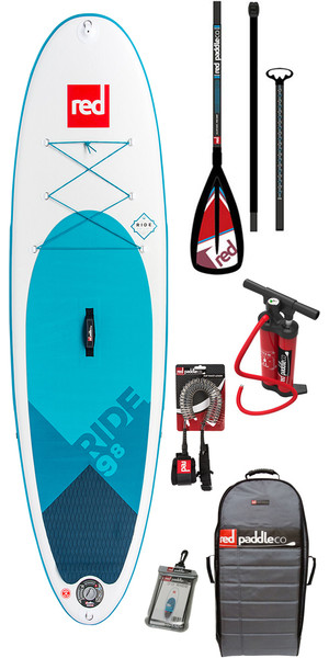 2018 Red Paddle Co Ride 9'8 Inflatable Stand Up Paddle Board + Bag, Pump, Paddle & Leash