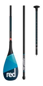 2018 Red Paddle Co Carbon / Carbon Vario Travel 3-Piece SUP Paddle 180CM-220CM