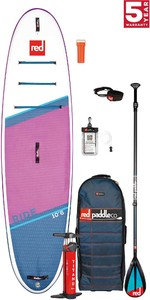 2021 Red Paddle Co Ride 10'6 SE Stand Up Paddle Board, Bag, Pump, Paddle & Leash - Carbon / Nylon Package