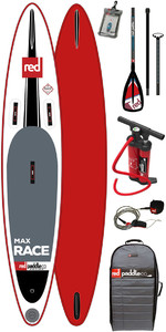Red Paddle Co 10'6 Max Race Inflatable Stand Up Paddle Board + Bag Pump Paddle & LEASH