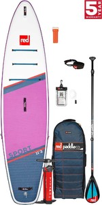 2021 Red Paddle Co Sport 11'3 SE Touring Stand Up Paddle Board, Bag, Pump, Paddle & Leash - Carbon / Nylon Package