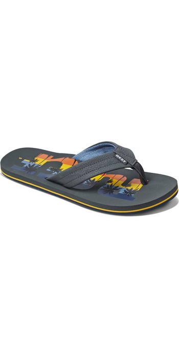 2020 Reef Mens Reef Waters Flip Flops / Sandals RF0A3YKU - Grey Palm