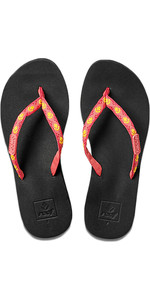 2018 Reef Womens Ginger Sandals / Flip Flops HOT PINK / YELLOW R01660