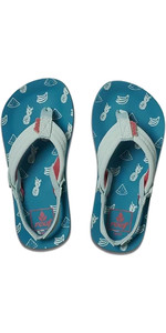 2019 Reef Junior Little Ahi Sandals / Flip Flops Fruits RF002199FRU1