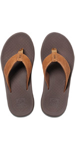 2021 Reef Leather Phantom II Flip Flops RF0A3YOO - Bronze