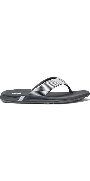 2020 Reef Mens Phantom II Flip Flops / Sandals RF0A3YMH - Grey / White
