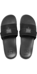 2020 Reef Mens Stash Slide Flip Flops / Sandals RF0A3YMJ - Black