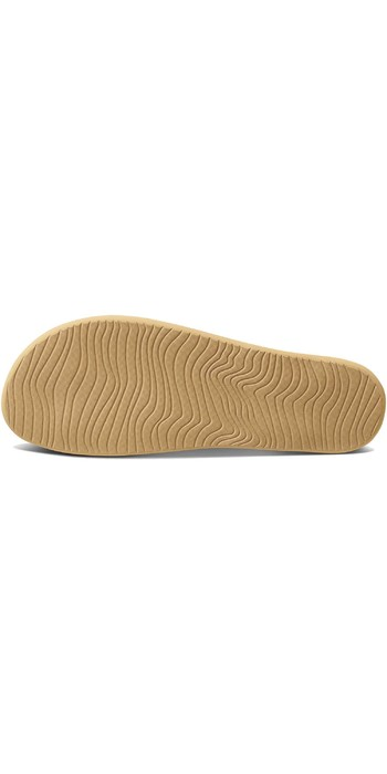 2020 Reef Womens Cushion Bounce Court Flip Flops / Sandals RF0A3FDS - Natural