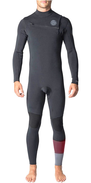 2018 Rip Curl Aggrolite 3/2mm GBS Chest Zip Wetsuit Charcoal WSM8QM