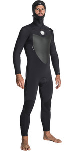 Rip Curl Flashbomb 6/4mm Hooded Chest Zip Wetsuit BLACK WST7OF