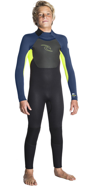 2018 Rip Curl Junior Omega 3/2mm Gbs Back Zip Wetsuit Lime Wsm5eb Picture