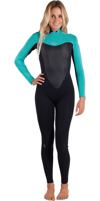 2018 Rip Curl Womens Omega 3/2mm Back Zip Gbs Wetsuit Turquoise Wsm4lw Picture