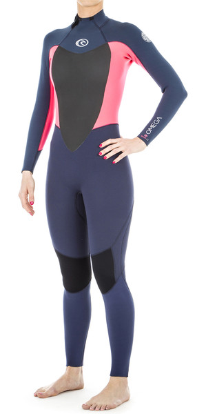 2019 Rip Curl Ladies Omega 3/2mm Back Zip Wetsuit Neon Pink WSM4LW