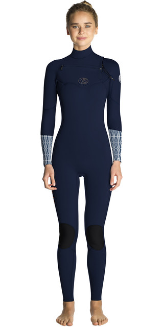 2018 Rip Curl Womens Flashbomb 3/2mm Chest Zip Wetsuit Blue Wst7es Picture