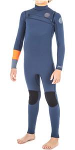 2019 Rip Curl Junior Aggrolite 3/2mm Chest Zip Wetsuit ORANGE WSM8KB