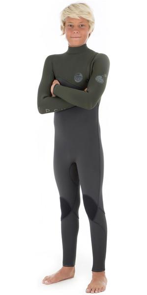2018 Rip Curl Junior Flashbomb 3/2mm Zip Free Wetsuit KHAKI WSM8OB