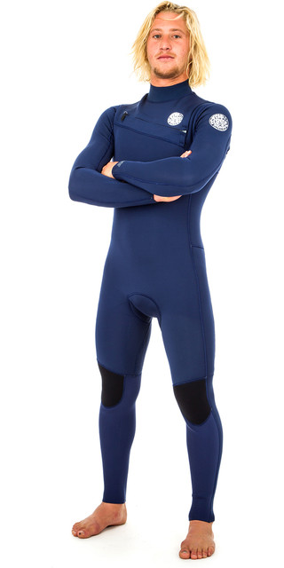 2018 Rip Curl Aggrolite 3/2mm Chest Zip Wetsuit Navy Wsm9qm Picture