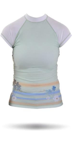 Rip Curl Core Bali Rash Vest in Green / White W7305W