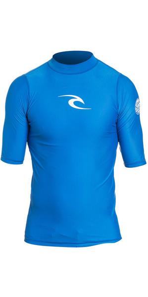 2018 Rip Curl Corpo Short Sleeve UV Tee Rash Vest BLUE WLE4KM