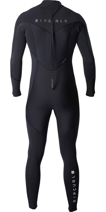 2019 Rip Curl Dawn Patrol 4/3mm Back Zip Wetsuit BLACK WSM8EM