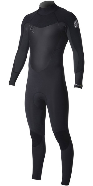 2018 Rip Curl Dawn Patrol 3/2mm GBS Back Zip Wetsuit BLACK WSM7DM