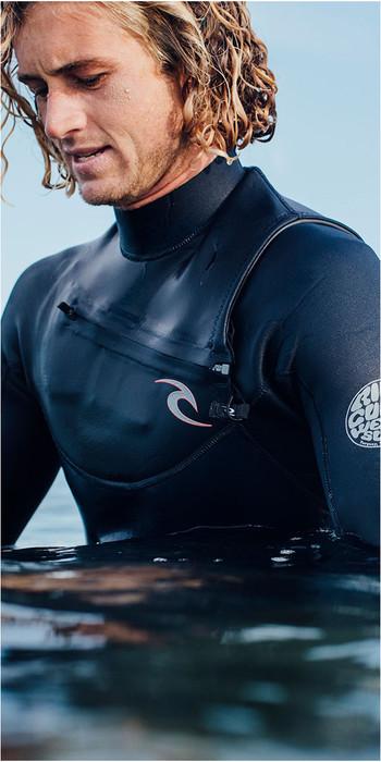 2019 Rip Curl Mens Dawn Patrol 3/2mm Chest Zip Wetsuit BLACK WSM7AM