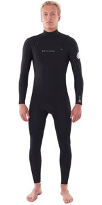 2021 Rip Curl Mens Dawn Patrol Warmth 4/3mm Chest Zip Wetsuit Black WSM9CM