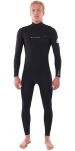 2020 Rip Curl Mens Dawn Patrol Performance 5/3mm Chest Zip Wetsuit Black WSM9XM