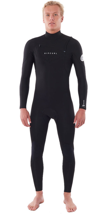 2020 Rip Curl Mens Dawn Patrol Warmth 5/3mm Chest Zip Wetsuit Black WSM9GM