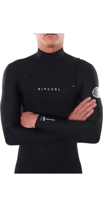2021 Rip Curl Mens Dawn Patrol Warmth 3/2mm Chest Zip Wetsuit Black WSM9AM
