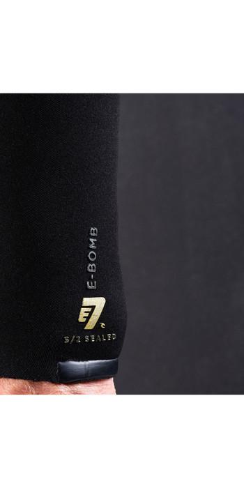 2021 Rip Curl Mens E-Bomb 3/2mm Ltd Edition E7 Zip Free Wetsuit WSMYAE - Black