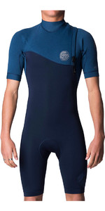 Rip Curl E-Bomb Pro 2mm Zip Free GBS Shorty Wetsuit Navy WSP7GE