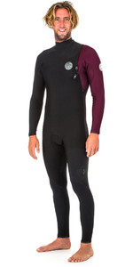 2019 Rip Curl E-Bomb Pro 3/2mm Zip Free Wetsuit MAROON WSM8RE