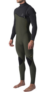 2019 Rip Curl Flashbomb 3/2mm Zip Free Wetsuit BLACK / GREEN WSM8RF