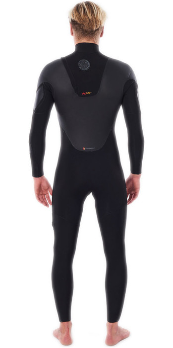 2021 Rip Curl Mens Flashbomb Heatseeker 4/3mm Zip Free Wetsuit WSTYQF - Black