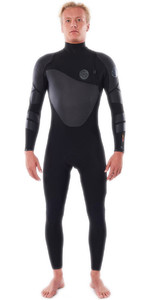 2021 Rip Curl Mens Flashbomb Heatseeker 5/4mm Zip Free Wetsuit WSTYVF - Black
