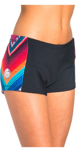 Rip Curl G-Bomb Womens Boyleg 1mm Neoprene Shorts Black / Grey WSH4BW