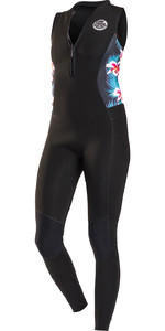 Rip Curl G-Bomb Womens 1.5mm Front Zip Long Jane Wetsuit BLACK Sub WSM6AS