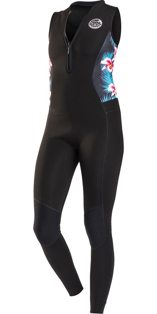2018 Rip Curl G-bomb Womens 1.5mm Front Zip Long Jane Wetsuit Black Sub Wsm6as Picture