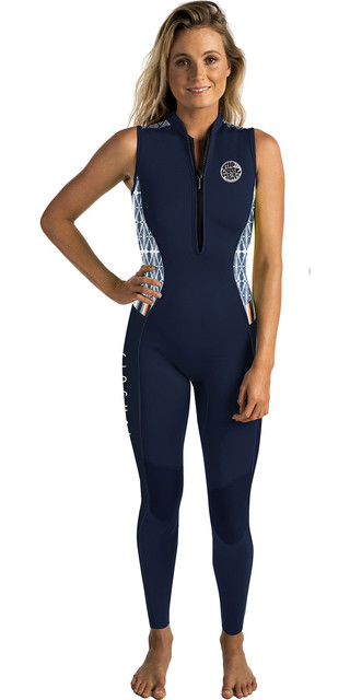 2018 Rip Curl G-bomb Womens 1.5mm Front Zip Long Jane Wetsuit Navy Wsm6as Picture