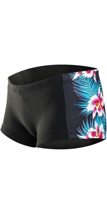Rip Curl G-Bomb Womens Boyleg 1mm Neoprene Shorts BLACK Sub WSH4BW