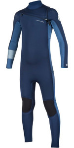 Rip Curl Junior Aggrolite 4/3mm GBS Chest Zip Wetsuit Navy WSM7LB
