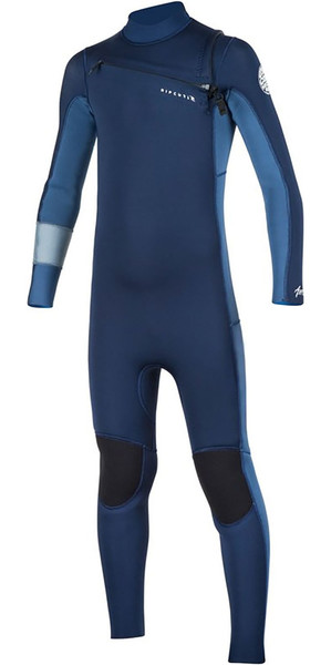 2018 Rip Curl Junior Aggrolite 4/3mm GBS Chest Zip Wetsuit Navy WSM7LB