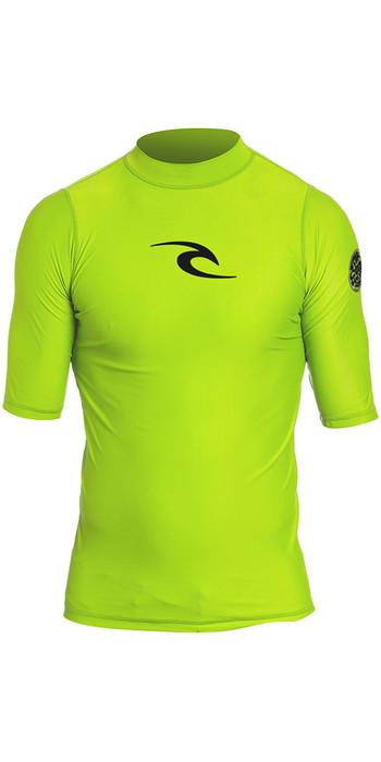 Rip Curl Toddler Boys Corpo S / S UV Tee Rash Vest Lime WLY5DO