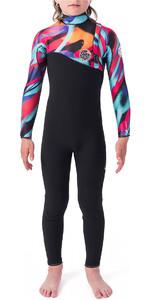 2019 Rip Curl Junior Flash Bomb 3/2mm Zip Free Wetsuit Multi Colour WSM9VU