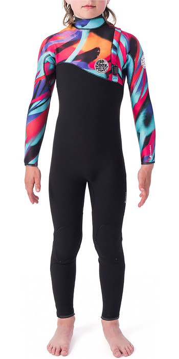 2019 Rip Curl Junior Flash Bomb 3/2mm Zip Free Wetsuit Multi Colour WSM9VU